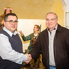 New President Danny Puccio (left) for 2014 Santa Rosalia di Palermo Society after sworn in by Sr. Member Frank Longo (right)