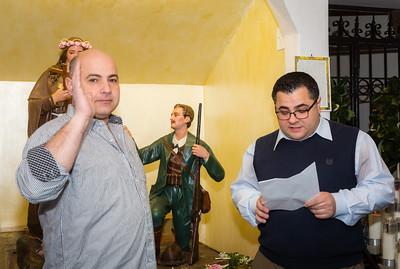 President Danny Puccio swears in 2014 Secretary Anthony Pucchio of Santa Rosalia di Palermo Society