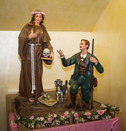 Santa Rosalia di Palermo with hunter statue at Sacred Heart Church