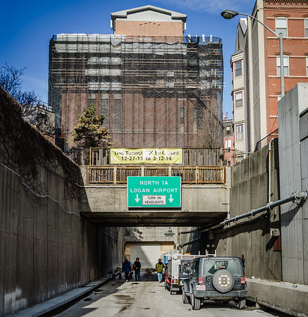 As the underground project comes to completion, work continues above on the vent tunnel building on North Street