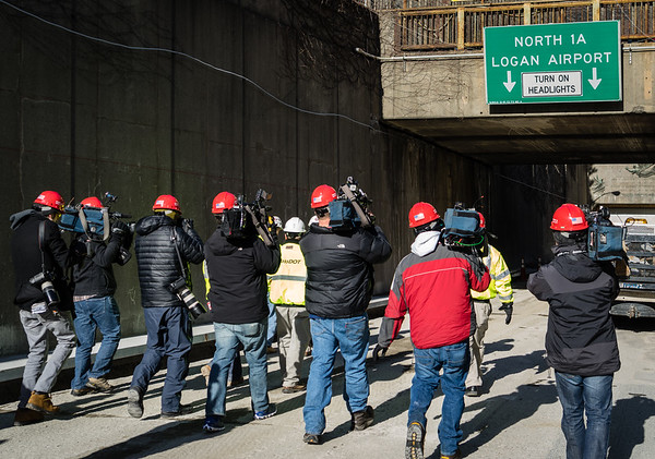 Media Day at the Callahan Tunnel Project
