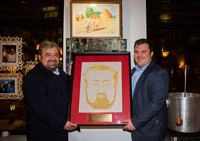 In honoring his father, Philip Frattaroli said that pasta has always brought the family together. As such, he hand crafted a pasta portrait for Filippo's 60th birthday.