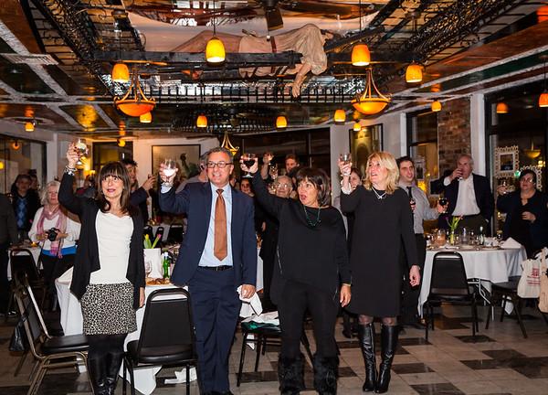A toast in honor of Cav. Filippo Frattaroli at his 60th birthday party.