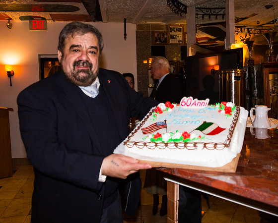 Cav. Filippo Frattaroli with his 60th birthday cake