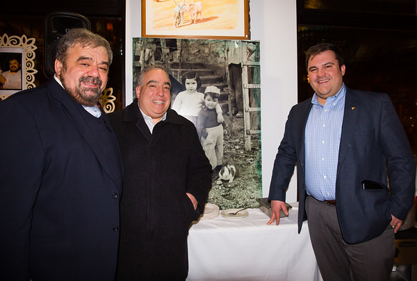 They caught Matt Conti in a photo! Standing with Cav. Filippo Frattaroli (left) and Philip Frattaroli (right). The photo in the back is of Filippo growing up in Italy as a child with the paper hat.