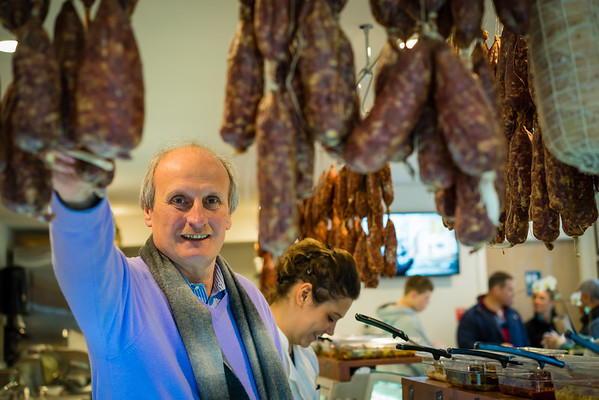 Frank DePasquale at the new Bricco Salumeria & Pasta Shoppe