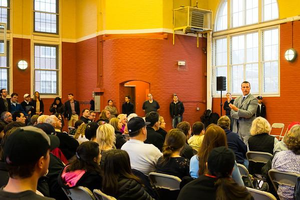 Chris Herren speaks at the Nazzaro Center gym
