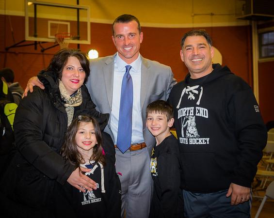 Chris Herren with the Toscano family