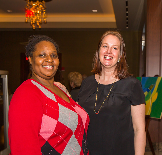 Nyasha Toyloy and Erica Voigt checked gala guests in