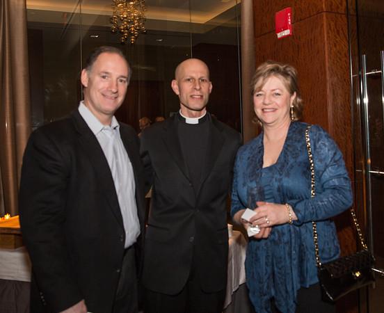 Bill Robbins (left) with Rev. Tim Crellin and Paula Luccio