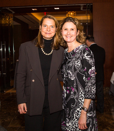 Meredith Stewart (right) and Old North friend at the gala