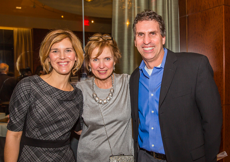 Jennifer (left) and Todd Gruber at the Old North gala with Michele Brogan
