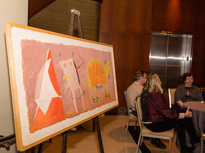 Artwork was also displayed as guest socialized at the gala