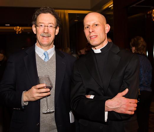 Rev. Stephen T. Ayres, vicar of Old North Church and Rev. Timothy E. Crellin, vicar of St. Stephen's Church