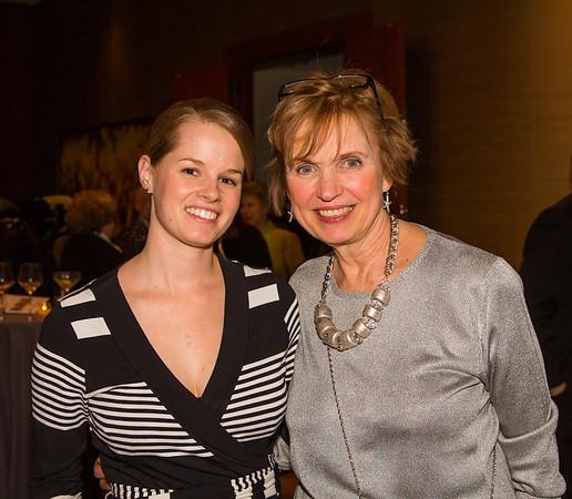 Leah Raymond and Michele Brogan helped organize the affair