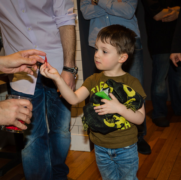Leo picks the lucky raffle ticket