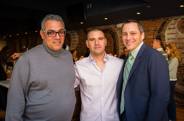(L-R) Stephen Perez, father of the Honoree, Matthew Imbergamo, Marathon Runner and State Rep. Aaron Michlewitz