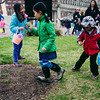 Kids gathering eggs at hunt