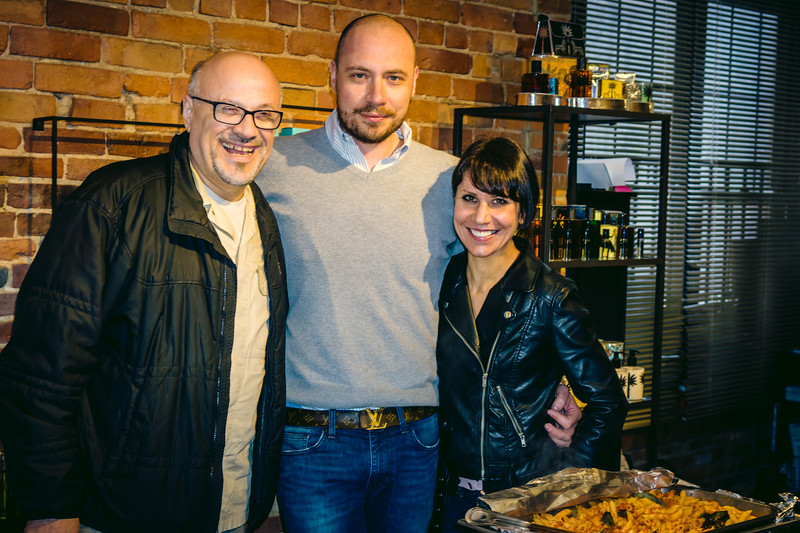(L-R) Pino of Piccola Nido, Fabrizio of Officina 189 and Carlotta of Acquire