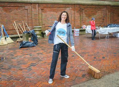 NECC VP Toni Gilardi sweeping the Prado
