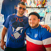 American fans Ralph Verrocchi and cousin