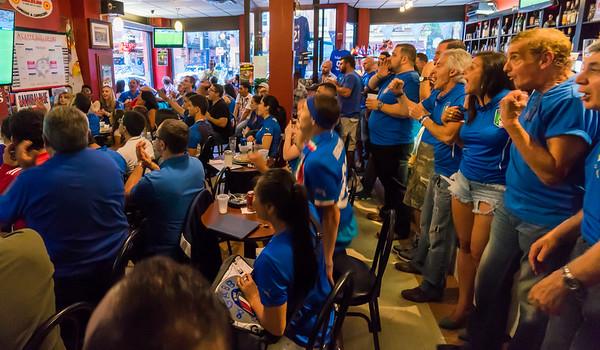 Crowd at Caffe Dello Sport