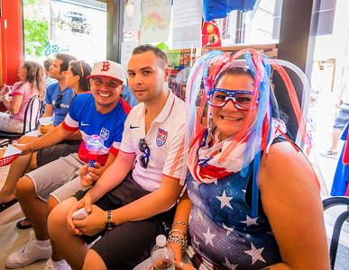 Enthusiastic USA Fans
