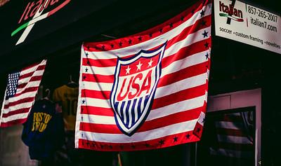 USA Soccer Flag on Hanover Street