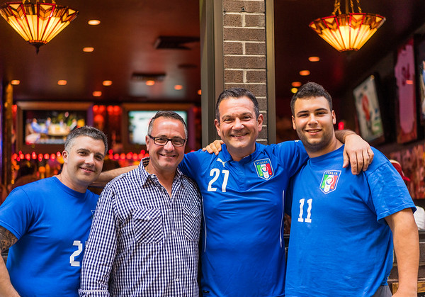 Damien DiPaola with friends outside Vito's
