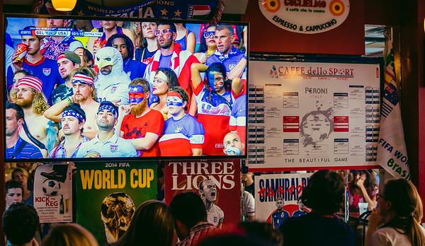 USA fans watching USA fans