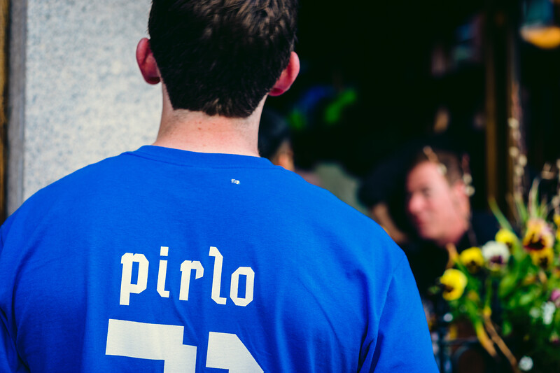 Pirlo jersey on Hanover St.