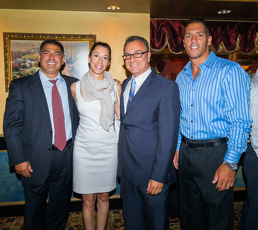 From the left, Daniel Toscano, Toni Gilardi, Councilor Sal LaMattina and Steven Siciliano