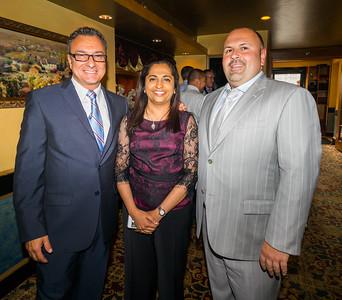Councilor Sal LaMattina, Dr. Seema Jacoli and Jeff Drago