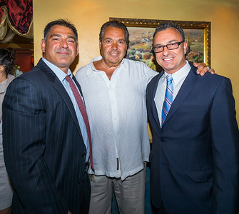 From the left, Daniel Toscano, Gerry Riccio and Councilor Sal LaMattina