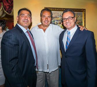 From the left, Daniel Toscano, Gerry Riccio and Councilor Sal LaMattina