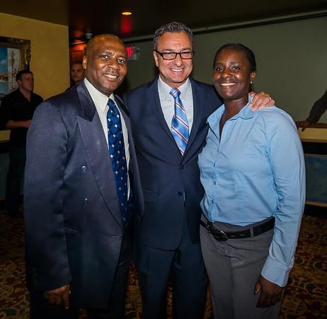 (L-R) Kempton Flemming, Councilor Sal LaMattina and Shirley Henry