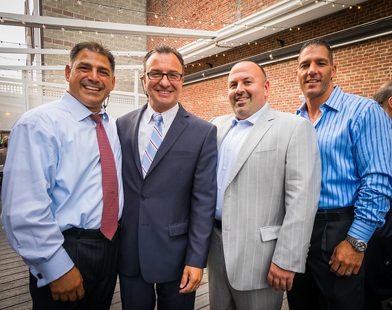 (L-R) Daniel Toscano, Councilor Sal LaMattina, Jeff Drago and Steven Siciliano