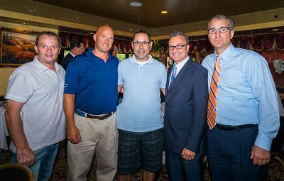 (L-R) Chuck, Nolan, George, Councilor Sal LaMattina and Paul