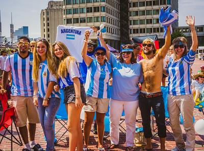 Argentina contingent at City Hall Plaza
