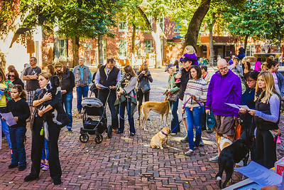 Gathering on the Prado for the Annual Blessing of the Animals