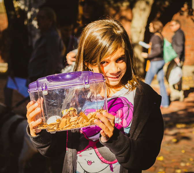 Talia with Fred the Hermit Crab