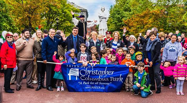 Friends of Christopher Columbus Park celebrate Columbus Day