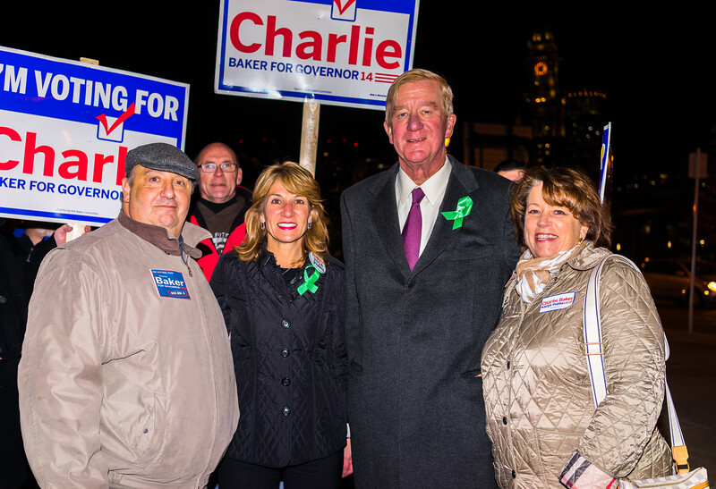 Sal and Therese with Lt. Gov. candidate Karen Polito and Fr. Governor Bill Weld