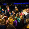 Celebration after the switch goes on with Mayor Walsh, Councilor LaMattina, Miss Massachusetts and lots of neighborhood kids.