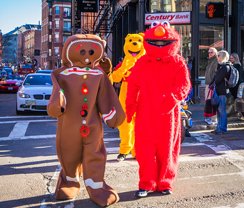 Costumed characters on Hanover Street