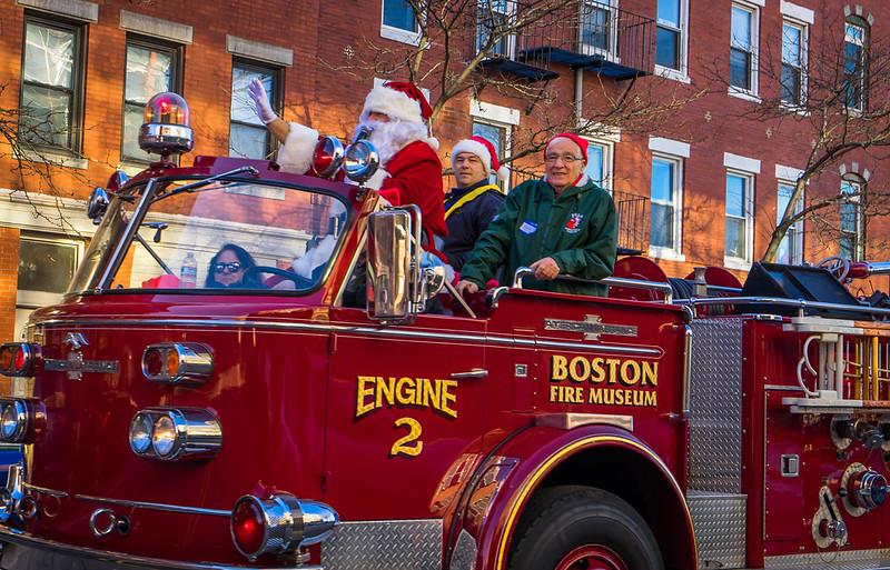 Santa Claus Fire Truck
