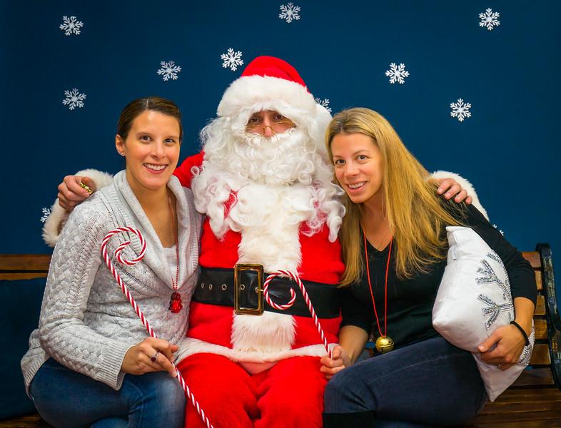 Fun with photos at Savas Studios & Boutique, (L-R) Stephanie, Santa and  Christine