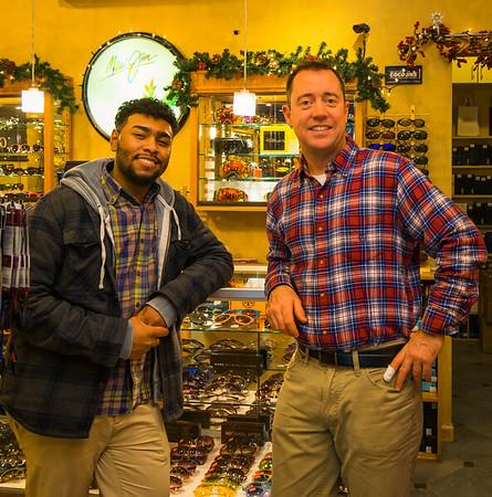(L-R) Diaz and Joe at Sol Optics