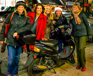 North End Ladies Strolling and Shopping for the Holidays on Hanover Street