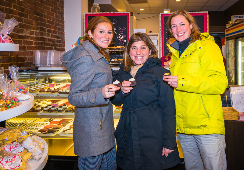 Sweet cupcakes at Lulu's Sweet Shoppe on the Holiday Stroll